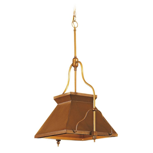 Metropolitan Lighting Pendant Light in Antique Brass Patina Finish N762-1