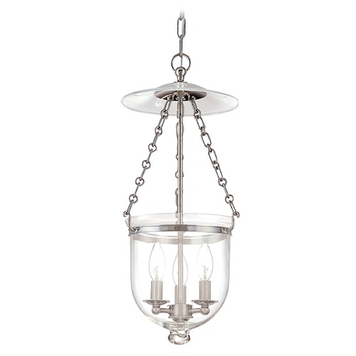 Hudson Valley Lighting Pendant Light with Clear Glass in Polished Nickel Finish 252-PN-C1