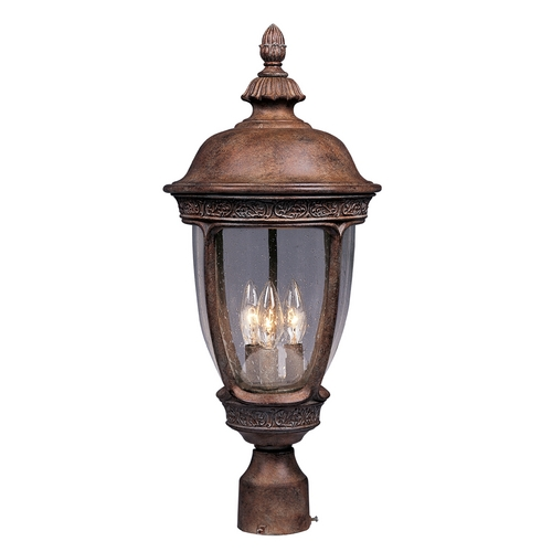 Maxim Lighting Post Light with Clear Glass in Sienna Finish 40460CDSE