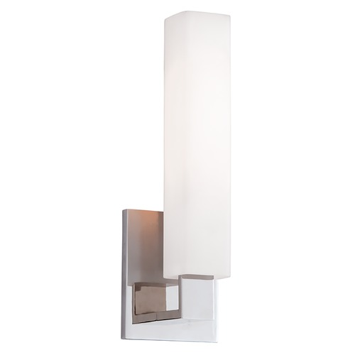 Hudson Valley Lighting Modern Bathroom Light with White Glass in Polished Nickel Finish 550-PN