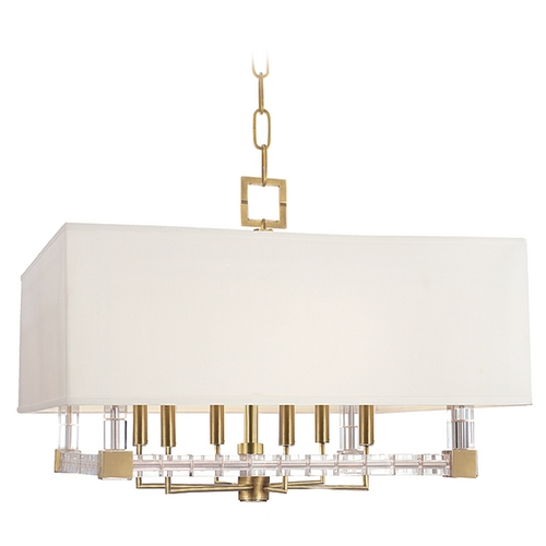 Hudson Valley Lighting Crystal Pendant Light Brass Alpine by Hudson Valley Lighting 7126-AGB