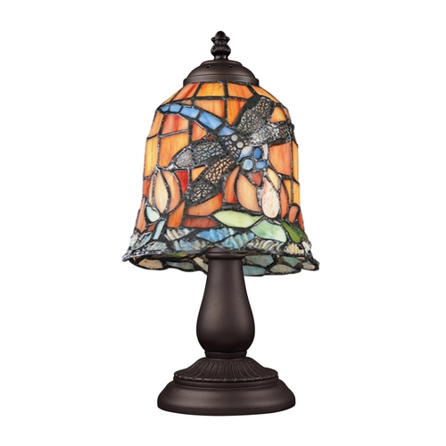 Elk Lighting Table Lamp with Tiffany Glass in Bronze Finish 080-TB-12