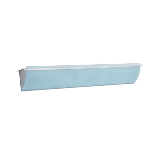 PLC Lighting Modern Bathroom Light with White Glass in Satin Nickel Finish 883 SN