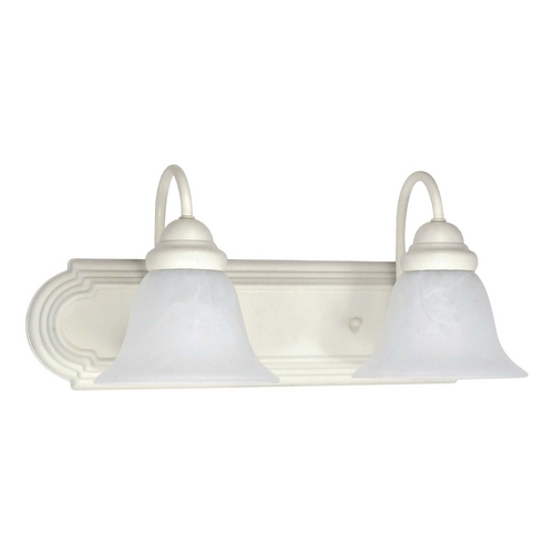 Nuvo Lighting Bathroom Light with Alabaster Glass in Textured White Finish 60/332