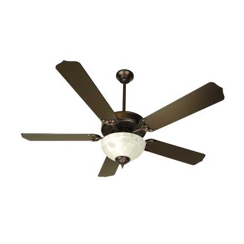 Craftmade Lighting 52-Inch Ceiling Fan with Energy Savings Alabaster Light Kit CDU201OB-CFL/BCD-5OB