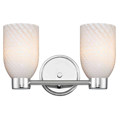 Design Classics Lighting Aon Fuse Chrome Bathroom Light 1802-26 GL1020D