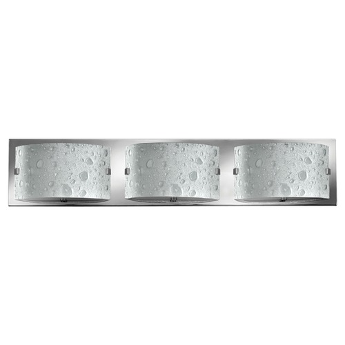 Hinkley Lighting Modern Bathroom Light with Bubble Art Glass in Chrome Finish 5923CM