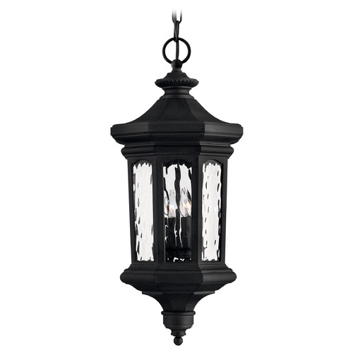 Hinkley Outdoor Hanging Light with Clear Glass in Museum Black Finish 1602MB