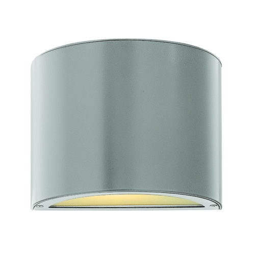 Hinkley Lighting Modern LED Outdoor Wall Light with Etched in Titanium Finish 1666TT-LED