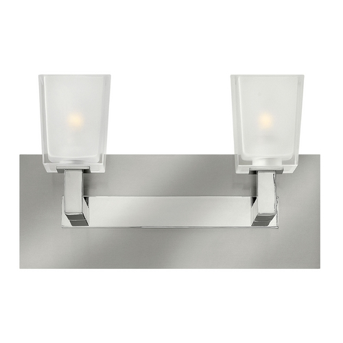 Hinkley Lighting Modern Bathroom Light with White Glass in Brushed Nickel Finish 51562BN