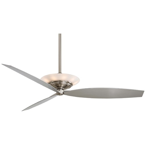 Minka Aire Minka Aire Fans Moda Brushed Nickel Ceiling Fan with Light F737-BN