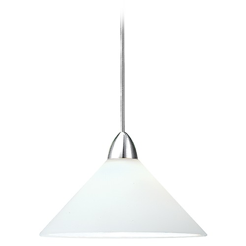 WAC Lighting Wac Lighting Contemporary Collection Chrome LED Mini-Pendant with Conical Shade MP-LED512-WT/CH