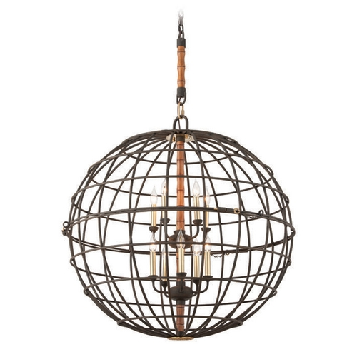 Troy Lighting Troy Lighting Latitude Liberty Rust Pendant Light with Globe Shade F3937