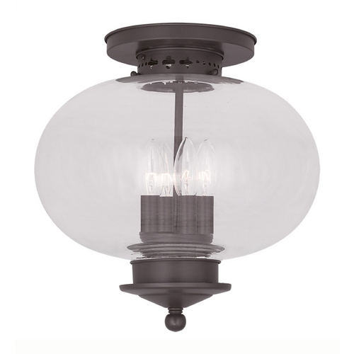 Livex Lighting Livex Lighting Harbor Bronze Close To Ceiling Light 5039-07