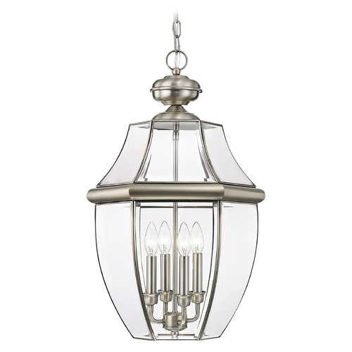 Livex Lighting Livex Lighting Monterey Brushed Nickel Outdoor Hanging Light 2357-91