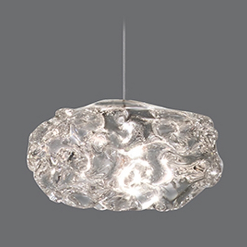 Fine Art Lamps Fine Art Lamps Natural Inspirations Gold-Toned Silver Leaf Mini-Pendant Light 852240-21ST