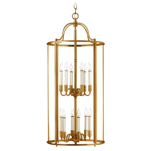 Hinkley Lighting Hinkley Lighting Gentry Heirloom Brass Pendant Light with Conical Shade 3479HR