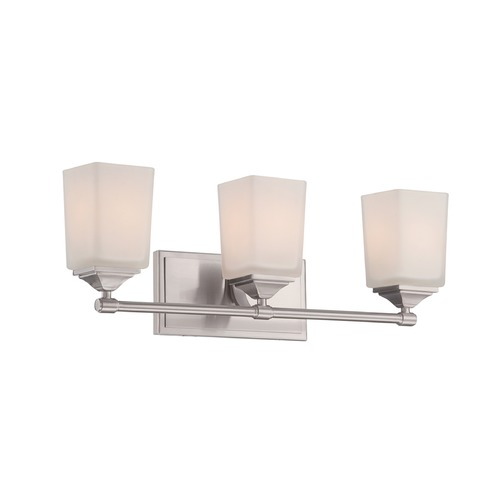 Designers Fountain Lighting Designers Fountain Corbin Satin Platinum Bathroom Light 68603-SP