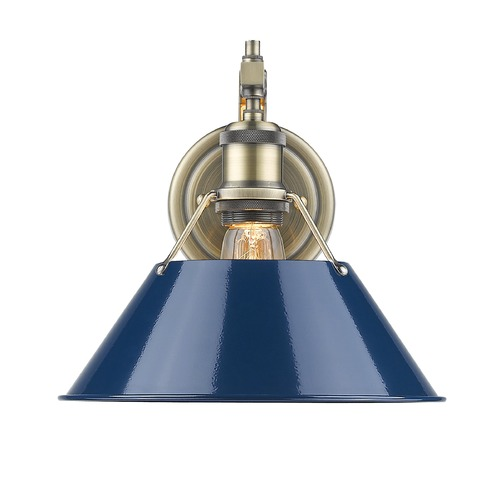 Golden Lighting Golden Lighting Orwell Ab Aged Brass Sconce 3306-1W AB-NVY
