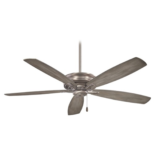 Minka Aire 52-Inch Minka Aire Kafe' Burnished Nickel Ceiling Fan Without Light F695-BNK
