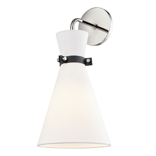 Mitzi by Hudson Valley Mitzi By Hudson Valley Mitzi Julia Polished Nickel / Black Sconce H294101-PN/BK
