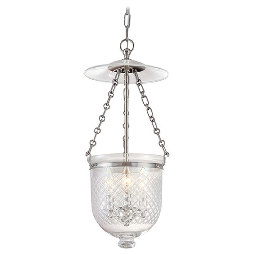 Hudson Valley Lighting Pendant Light with Clear Glass in Polished Nickel Finish 252-PN-C2