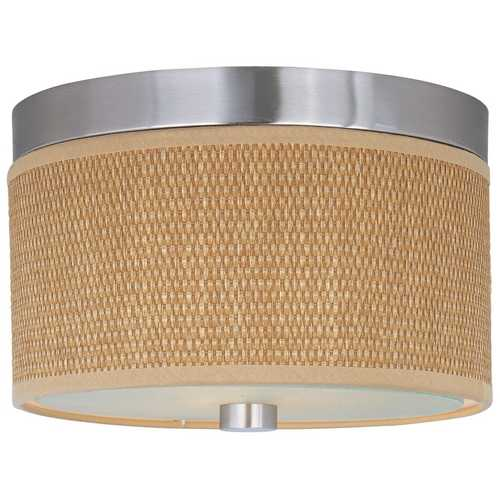 ET2 Lighting Modern Flushmount Light with Brown Shades in Satin Nickel Finish E95100-101SN