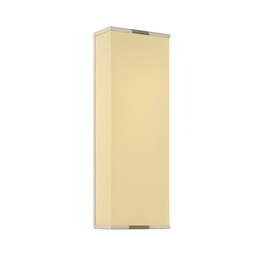 Sonneman Lighting Modern Sconce Wall Light with White Shades in Satin Nickel Finish 1832.13F