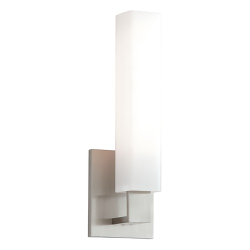 Hudson Valley Lighting Modern Bathroom Light with White Glass in Satin Nickel Finish 550-SN