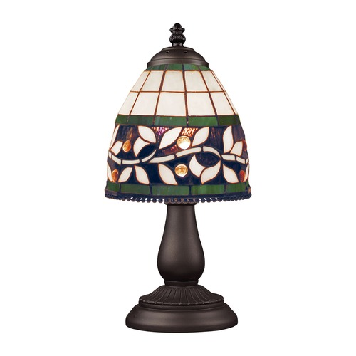 Elk Lighting Table Lamp with Tiffany Glass in Bronze Finish 080-TB-13
