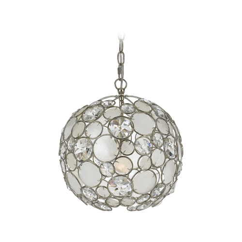 Crystorama Lighting Crystal Pendant Light in Antique Sliver Finish 527-SA