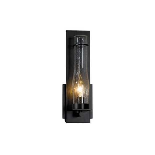 Hubbardton Forge Lighting Outdoor Wall Light with Seeded Glass - 12-1/2-Inches Tall 204250-07-I184