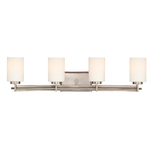 Quoizel Lighting Four-Light Antique Nickel Vanity Light TY8604AN