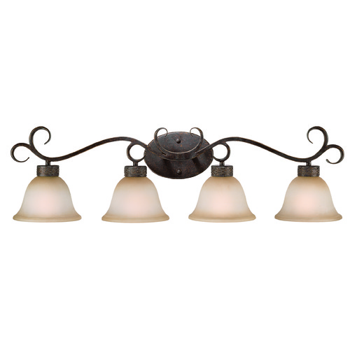 Jeremiah Lighting Jeremiah Brookshire Manor Burnished Armor Bathroom Light 23604-BA