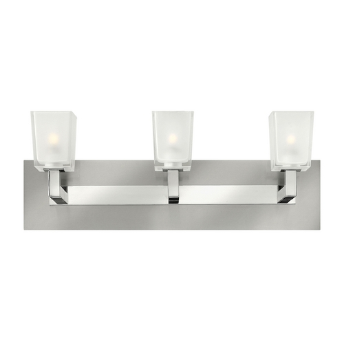 Hinkley Lighting Modern Bathroom Light with White Glass in Brushed Nickel Finish 51563BN