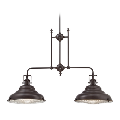 Quoizel Lighting Farmhouse Island Light Bronze Eastvale by Quoizel Lighting EVE240PN