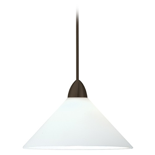 WAC Lighting Wac Lighting Contemporary Collection Dark Bronze LED Mini-Pendant with Conical Shad MP-LED512-WT/DB