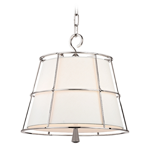 Hudson Valley Lighting Hudson Valley Lighting Savona Polished Nickel Pendant Light with Empire Shade 9816-PN