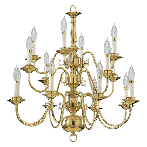 Quorum Lighting Quorum Lighting Polished Brass Chandelier 6171-16-2