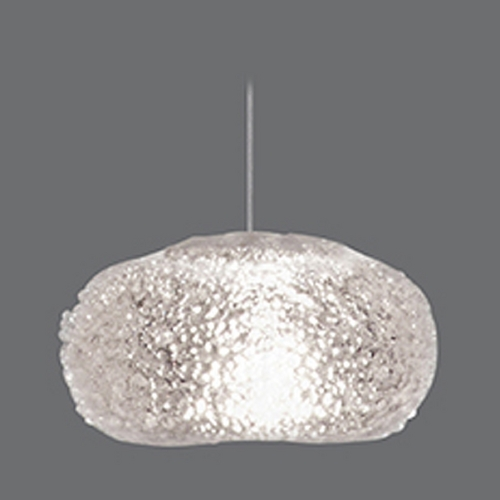 Fine Art Lamps Fine Art Lamps Natural Inspirations Gold-Toned Silver Leaf Mini-Pendant Light with Oblong Shade 852240-22ST