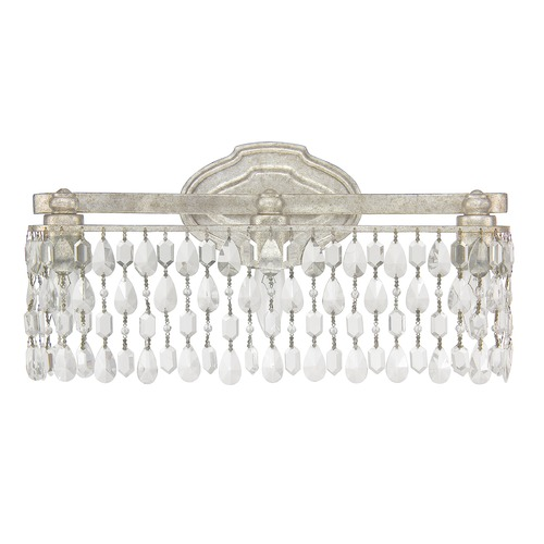 Capital Lighting Capital Lighting Blakely Antique Silver Bathroom Light 8528AS-CR