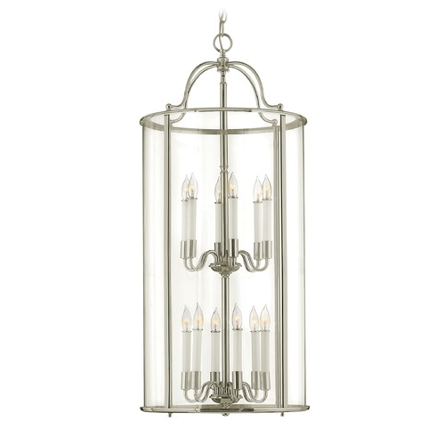 Hinkley Lighting Hinkley Lighting Gentry Polished Nickel Pendant Light with Conical Shade 3479PN