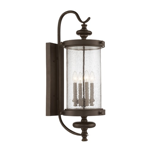 Savoy House Savoy House Lighting Palmer Walnut Patina Outdoor Wall Light 5-1224-40