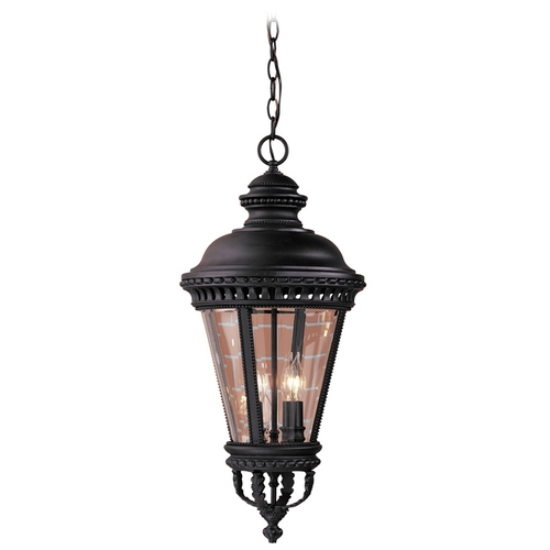 Feiss Lighting Outdoor Hanging Light with Clear Glass in Black Finish OL1911BK