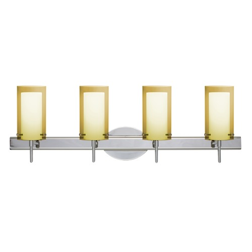 Besa Lighting Besa Lighting Pahu Chrome LED Bathroom Light 4SW-S44007-LED-CR