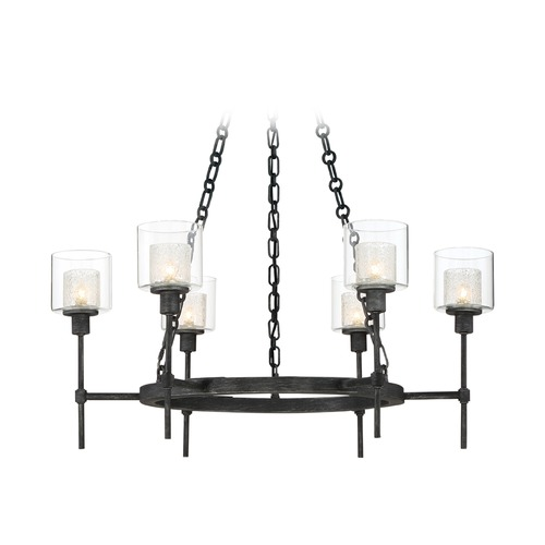 Designers Fountain Lighting Designers Fountain Cazadero Weathered Pewter Chandelier 89186-WP