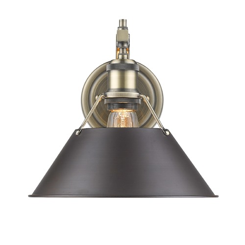 Golden Lighting Golden Lighting Orwell Ab Aged Brass Sconce 3306-1W AB-RBZ