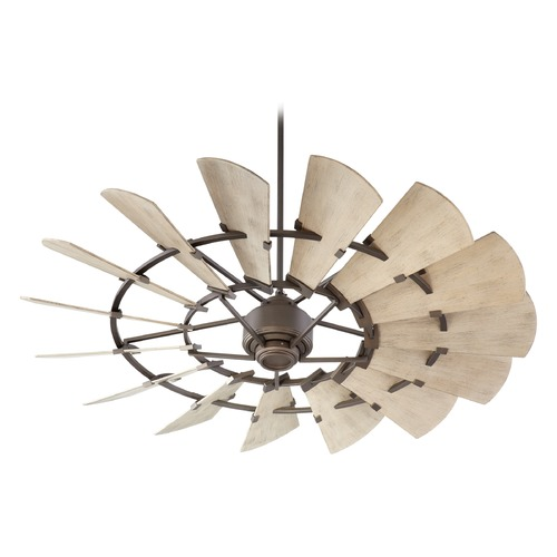 Quorum Lighting Quorum Lighting Windmill Oiled Bronze Ceiling Fan Without Light 196015-86
