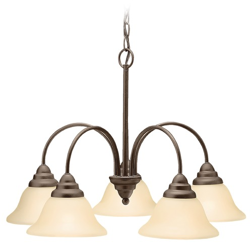 Kichler Lighting Kichler Chandelier with Beige / Cream Shades in Olde Bronze Finish 2076OZ