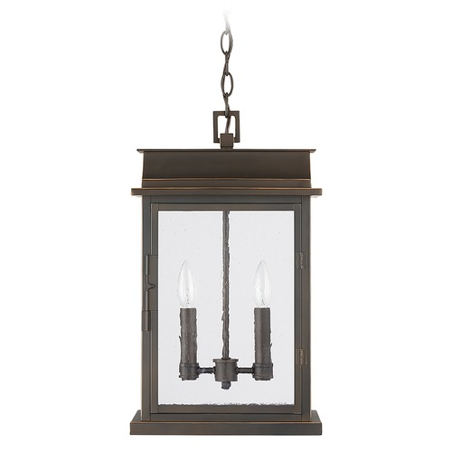 Capital Lighting Capital Lighting Bolton 2-Light Oiled Bronze Outdoor Hanging Light 936823OZ